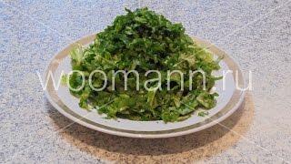 Салат без майонеза с растительным маслом