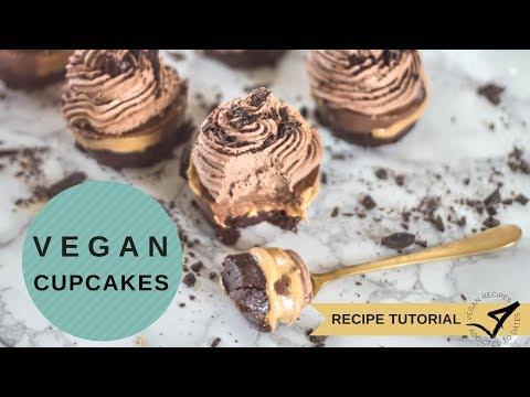 VEGAN Peanut Butter Chocolate Cupcakes | No bake | Gluten free