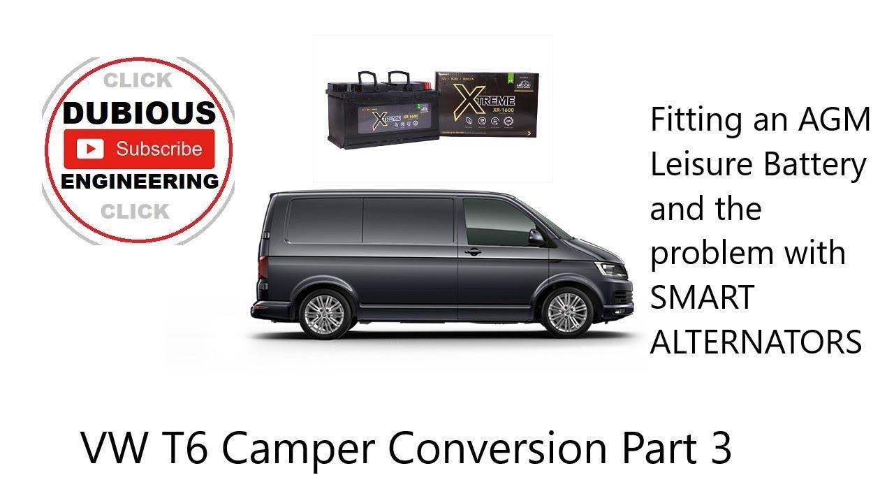 DuB-EnG: DIY T6 Camper Van Part3 Electrics Installing Leisure House Service  Battrery Split Charge
