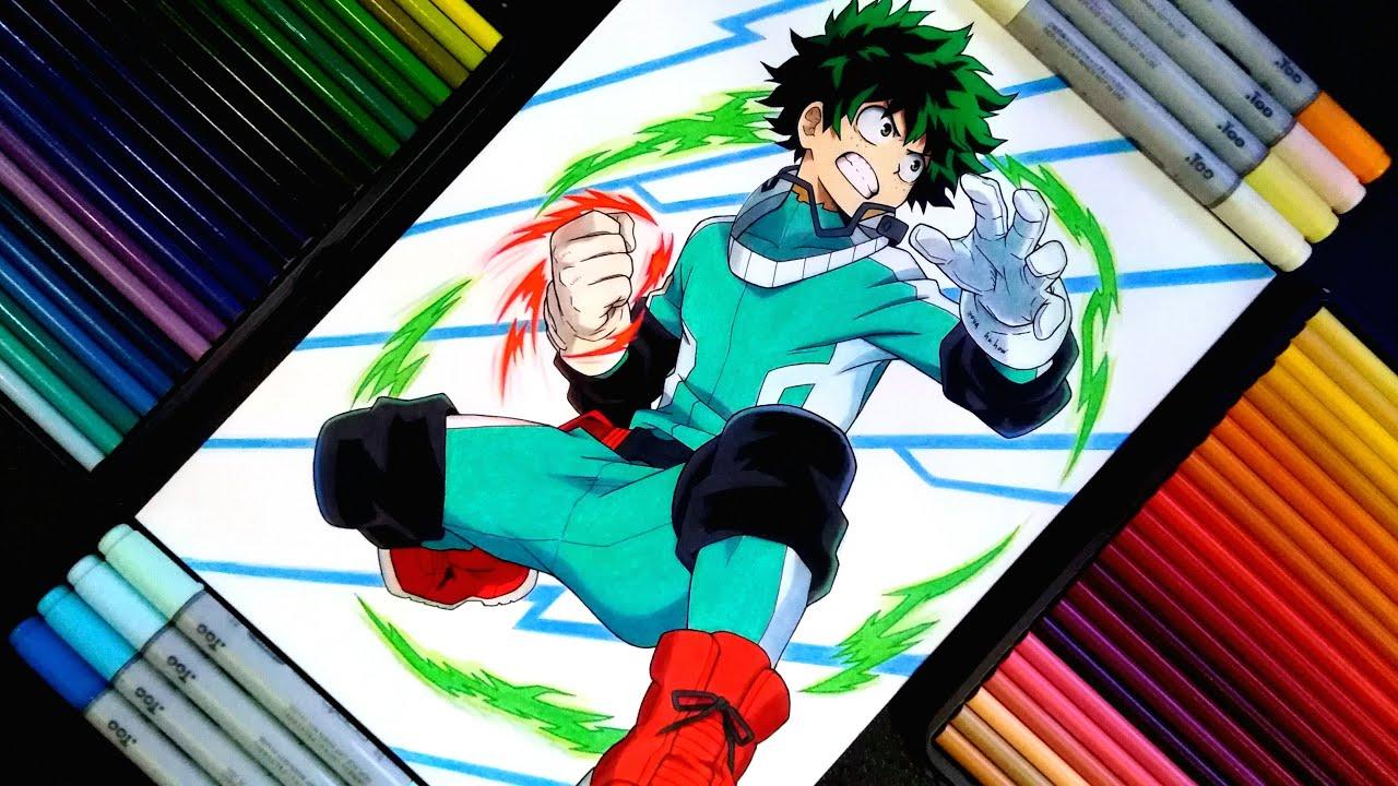 Drawing Izuku Midoriya Boku No Hero Academia My Hero Academia