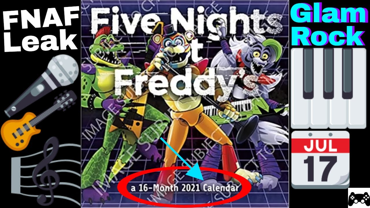 Pictures of Five Nights At Freddys 2021 Calendar