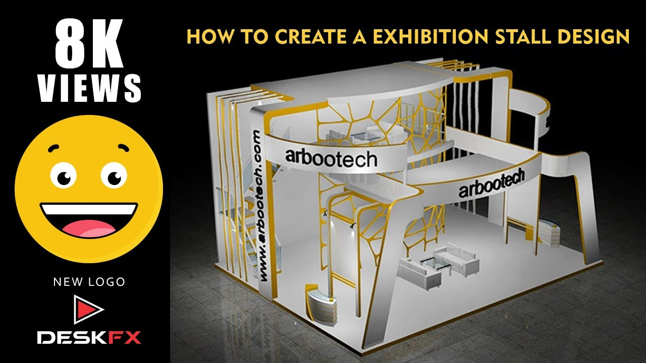 Exhibition Stall Materials : Ds max exhibition stall design part youtube
