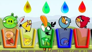 Angry Birds Drink Water 2 - SKILL GAME BIRDS NEED RAINBOW WATER!