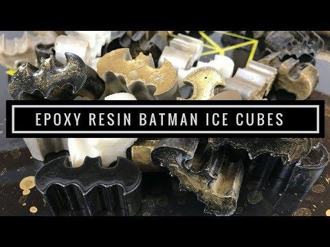 Casting Epoxy Resin Batman Ice Cubes | Black & Gold Spray Paint