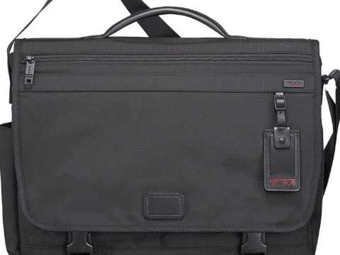 Tumi Corporate Collection Messenger Customized - YouTube