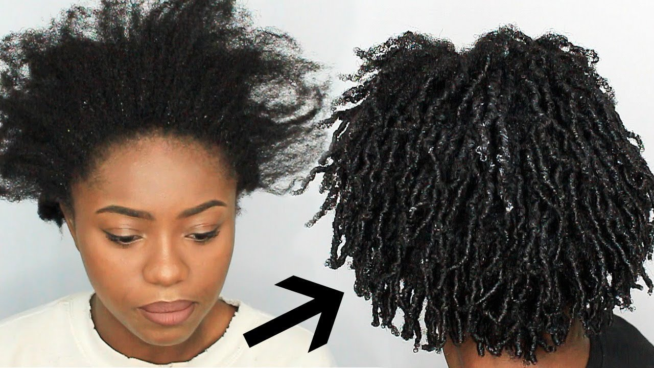 finger coils on 4c natural hair  first impression