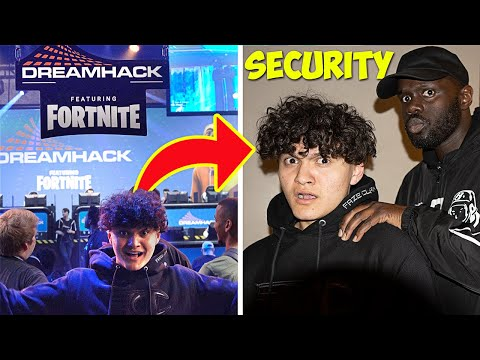 SNEAKING Into Fortnite EVENT Until I Get KICKED OUT!!👮🏻‍♂️ 24 Hour Challenge