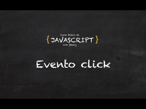 21. Curso grátis de Javascript | Eventos | Click
