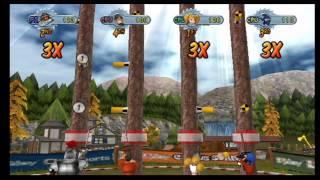 Go Play Lumberjacks Wii Gameplay Part 3