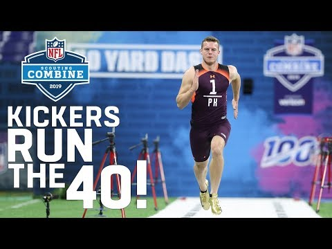 Kickers Running The 40-Yard Dash?!?!?!?!?!?! 😱| 2019 NFL Combine Highlights