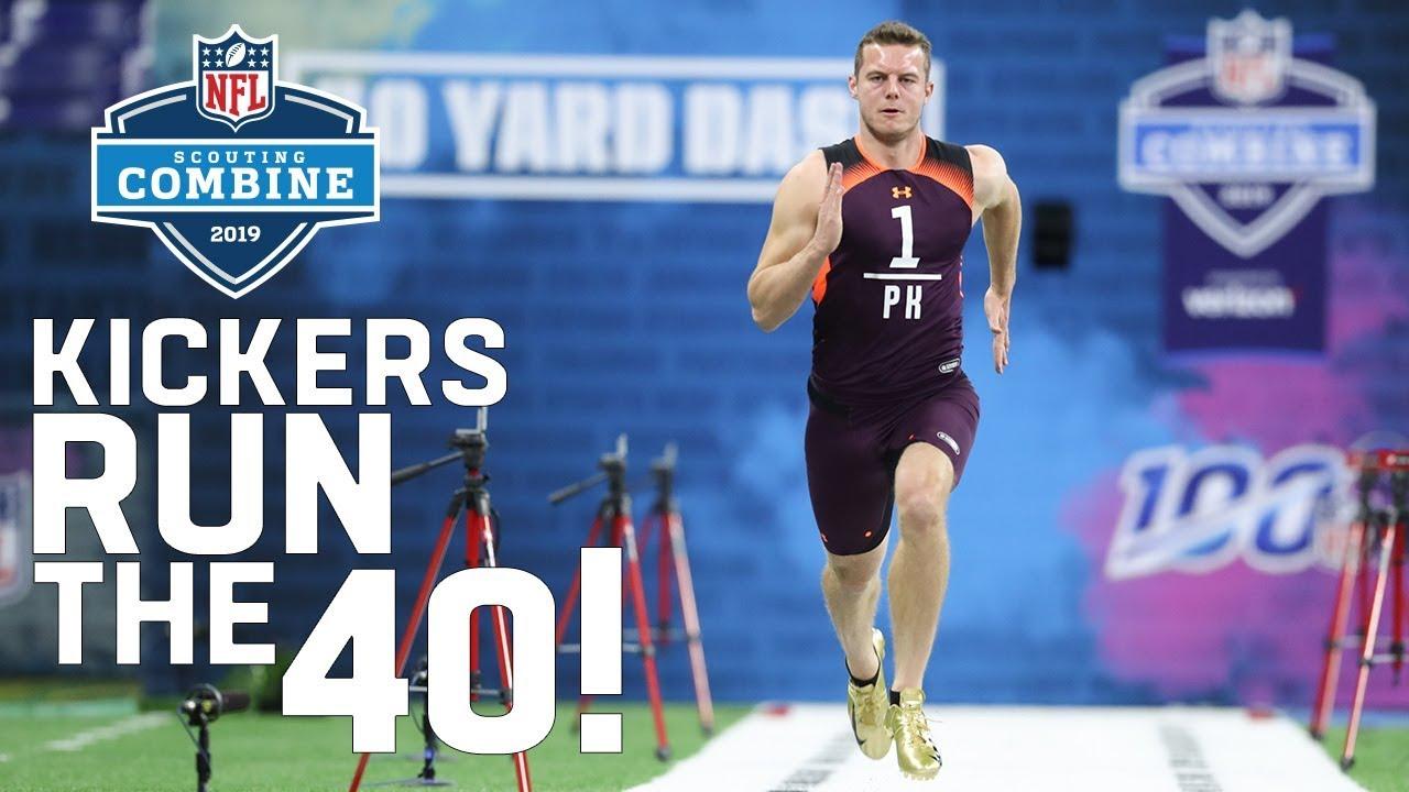 Best Kicker In Nfl 2019 Kickers Running the 40 Yard Dash?!?!?!?!?!?! 😱| 2019 NFL Combine
