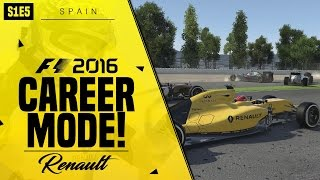 F1 2016 CAREER MODE | CRASHES & DRAMA GALORE | Episode #5 (Renault)