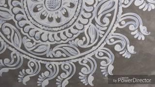 Durga Puja Special Alpona   Quick And Easy Alpana Design    Deepika Das
