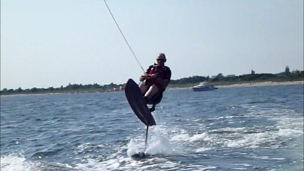 Hydrofoil water ski at first time michael kr se