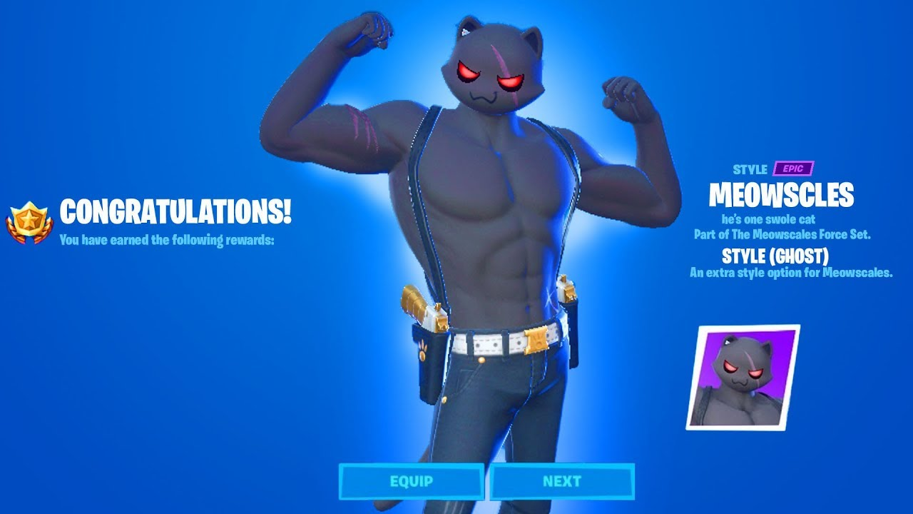 How To Get Shadow Or Ghost Meowscles Complete 18 Meowscles Challenges Fortnite Youtube