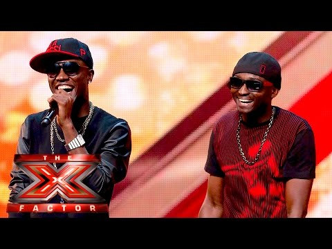 "Reggie Zippy and Bollie now ""Men on Point"" impress X Factor UK Judges 2015"