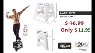 Launch Offer! Spranster White Folding Step Stool- Buy Now at Amazon!