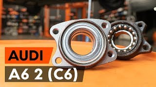 Hoe een vooraan wiellager vervangen op een AUDI A6 2 (C6) [AUTODOC-TUTORIAL]