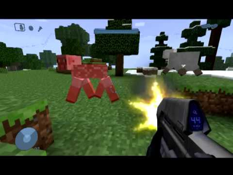 You can aim down the sights for an even cooler look and better. HALO Minecraft MOD {amazing} - Wokring GUNS and WARTHOG