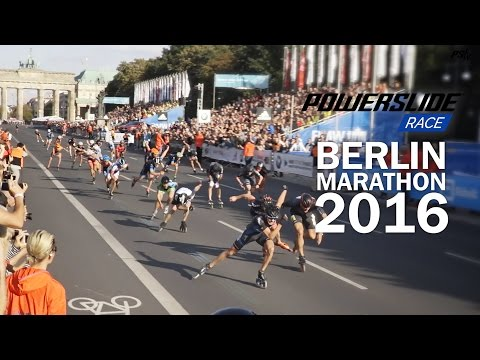 Berlin Marathon 2016 Inline skating - Powerslide Race Triskate invasion