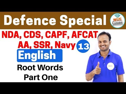 11:00 PM - Defence Special English by Sanjeev Sir   Day #13   Root words Part 1