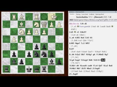 Blitz chess postmortem #693: Bird's opening