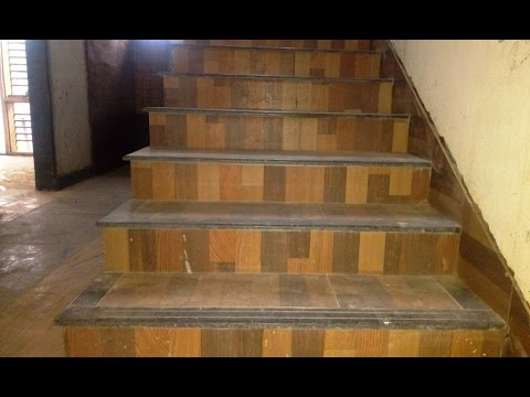 Budget Simple & Nice Staircase Design with Color Tiles ...
