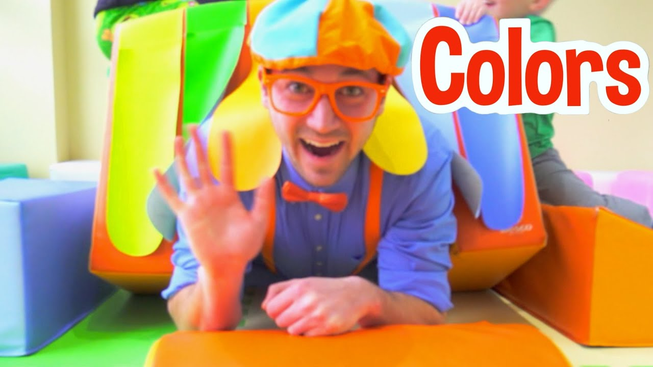Blippi Learns Colors at The Indoor Playground For Kids | Learning Colors For Kids | Educational