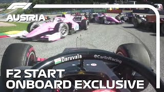 F2 EXCLUSIVE: Ride Onboard The First Start Of The Season | 2020 Austrian Grand Prix