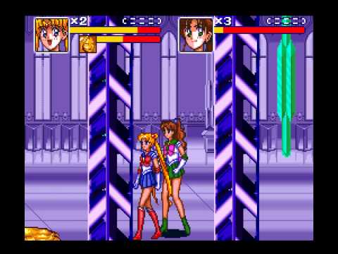 Bishoujo Senshi Sailor Moon R SNES 2 player 60fps
