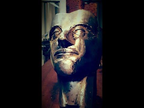 Metal Art - Sculpture steel face