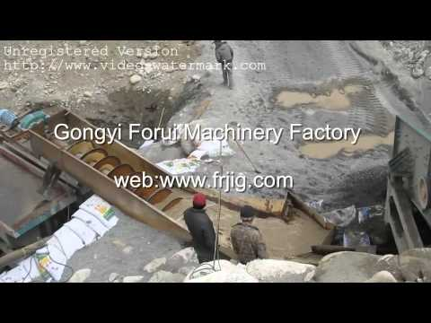 Alluvial Gold Ore Washing Site|Gold extraction equipment