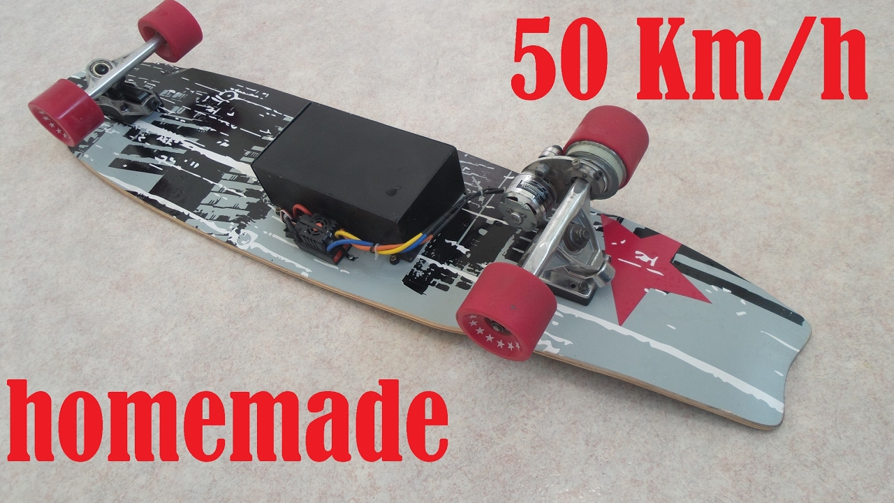 50km H Electric Longboard Homemade Youtube