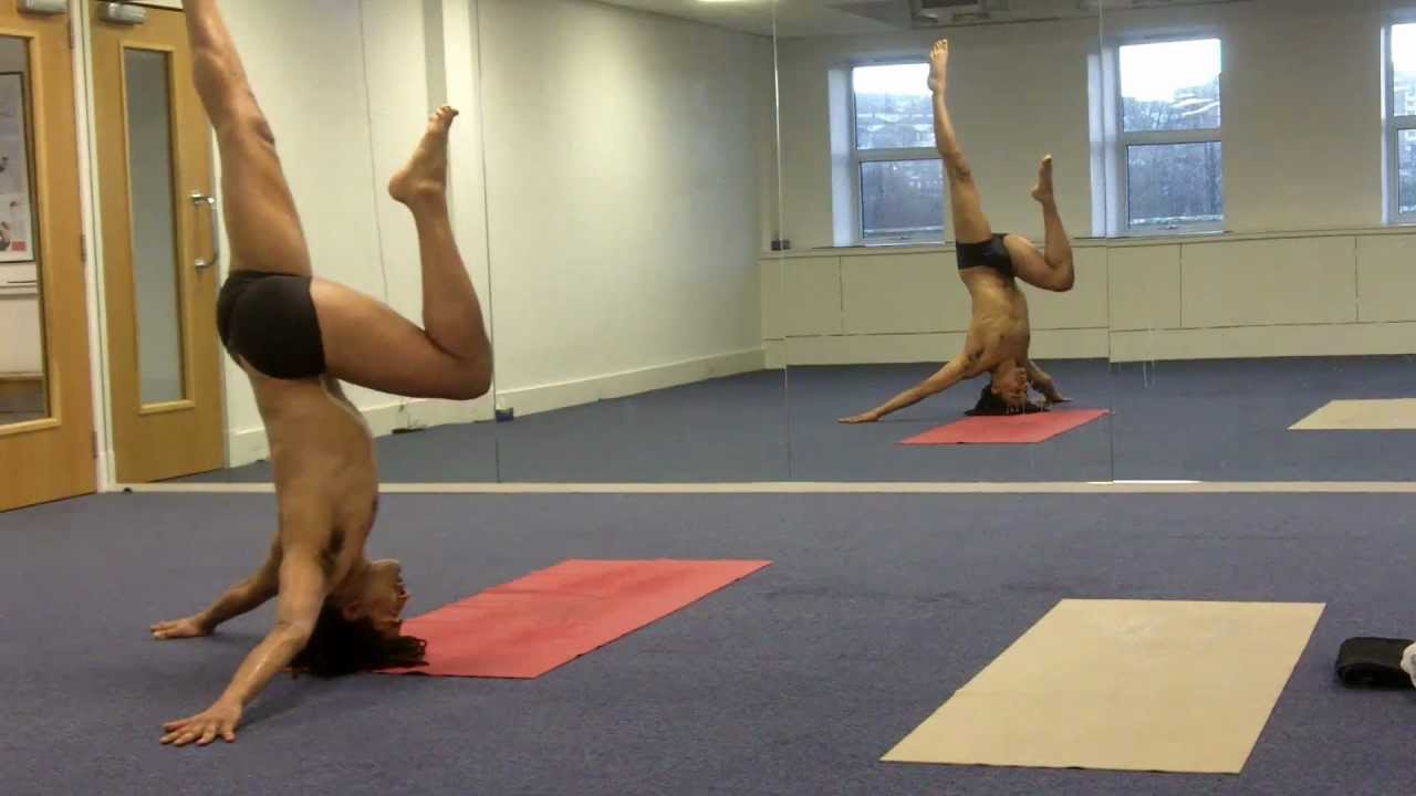 Yoga Rear Headstand Pose Variation Rear Hands-Free ...