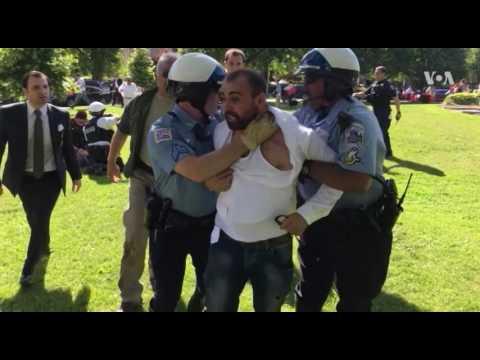 Nine Hurt in Violent Demonstration at Turkish Ambassador's Residence