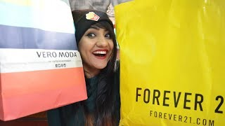 HUGE FOREVER21 HAUL | VEROMODA HAUL | FLAT 50% off 2017| Oh so homemade