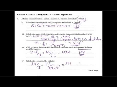 Electric Circuit Checkpoint 1 Basic Definitions