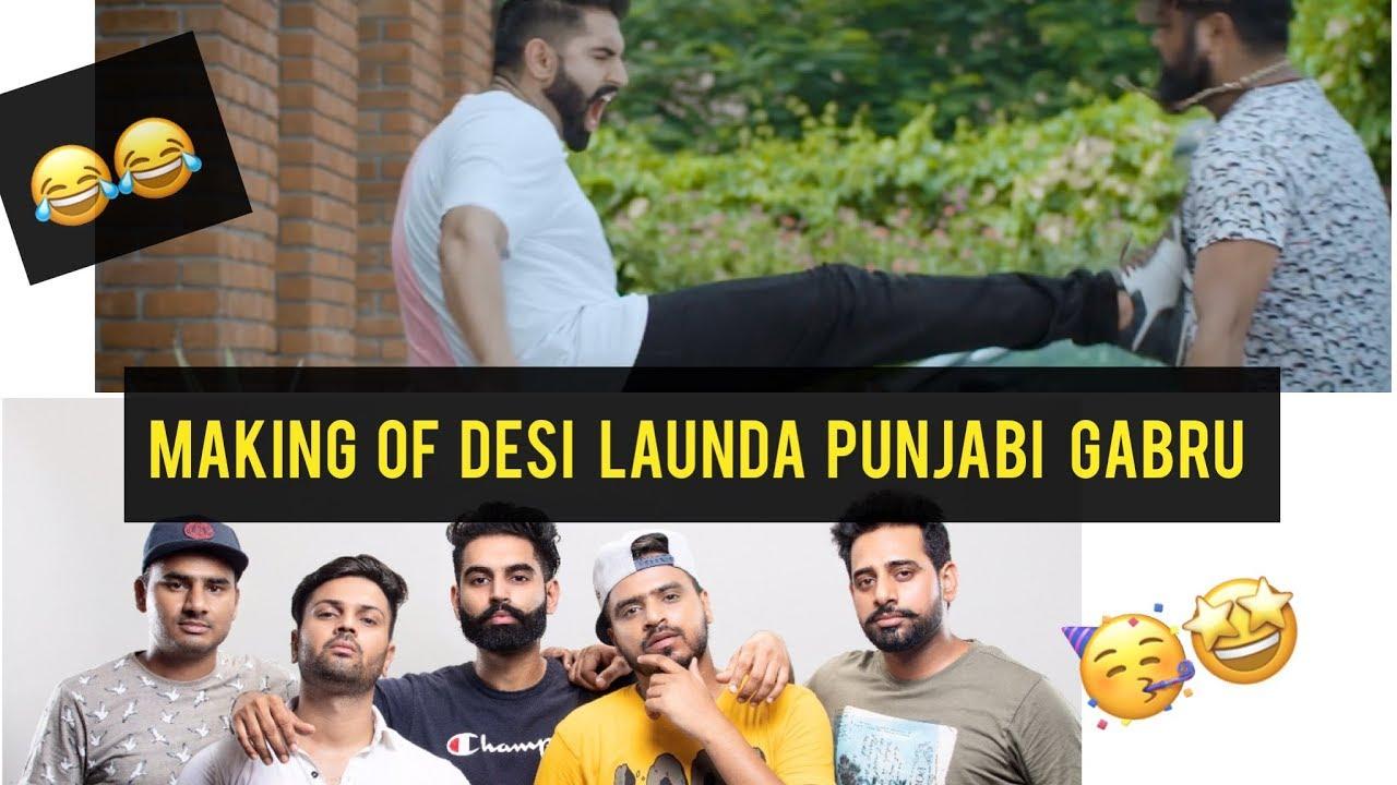 Making Of Desi Launda Punjabi Gabru ft. Amit Bhadana and Parmish Verma ||  Sachin Bhati