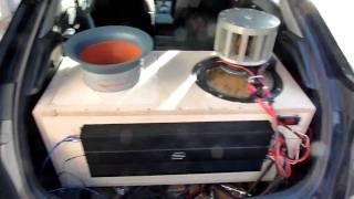 "Honda Civic soundcheck: DDZ 15"" + DD m4a = 152,5 dB @ music"