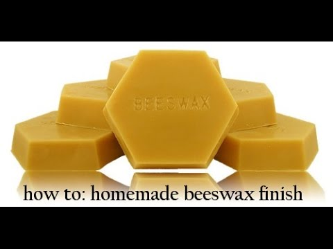 how to: homemade beeswax finish