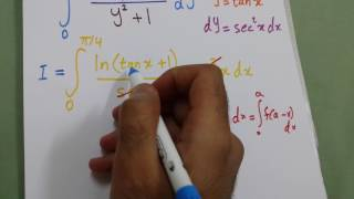 Integral of ln(x+1) / (x^2 + 1) from 0 to 1
