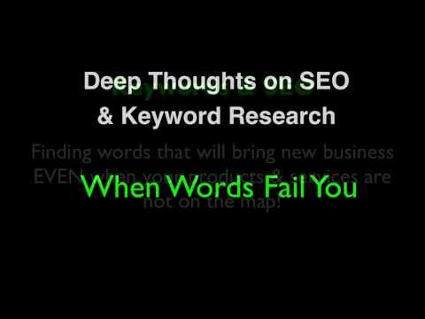 Keyword Marketing  & SEO For Tourism  - When Words Fail You