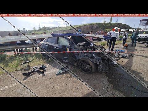 Ողբերգական ավտովթար Կոտայքի մարզում. Nissan-ը բախվել է երկաթե արգելապատնեշներին. կա 1 զոհ, 3 վիրավոր