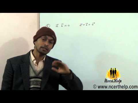 Given that a.b=0 and a × b = 0 What can you conclude about the vectors a and b