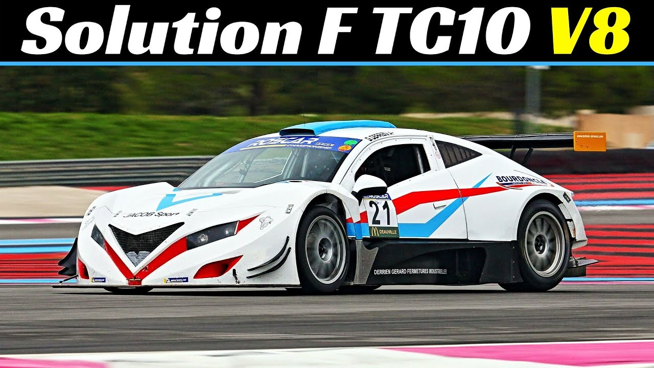 500Hp Solution F TC10 - Chevy LS7 V8 N/A Engine - ROSCAR Championnat at Paul Ricard Circuit