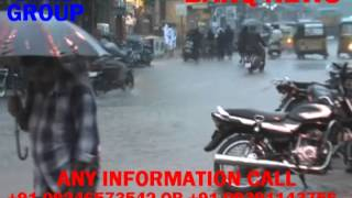 BARQ NEWS..HEAVY RAIN IN HYDERABAD CITY TODAY.ROAD