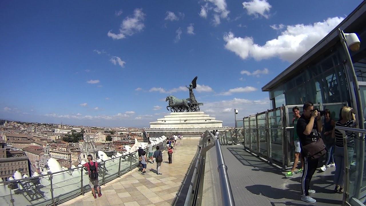 Panorama a 360° gradi dalla terrazza delle Quadrighe - Vittoriano ...