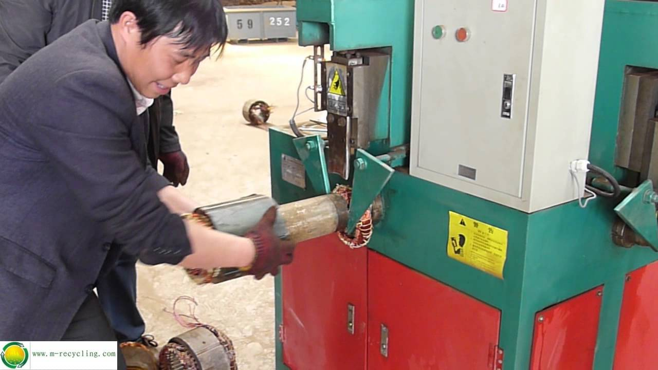 Electric motor recycling machine whatsapp 0086 for Electric motor recycling machine