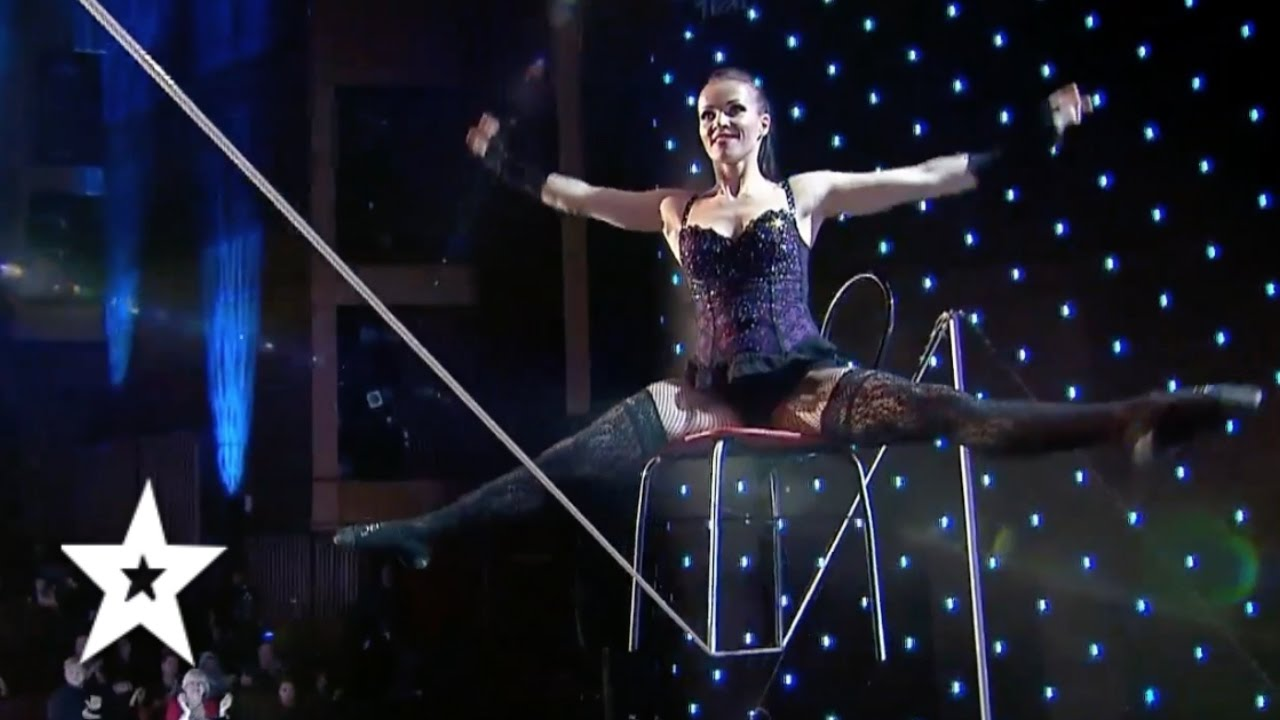 Tatiana Kundik, The Best Tight Rope Act EVER?! | Auditions Week 1 | Românii au talent