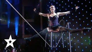 Tatiana Kundik, The Best Tight Rope Act EVER?!   Auditions Week 1   Românii au talent